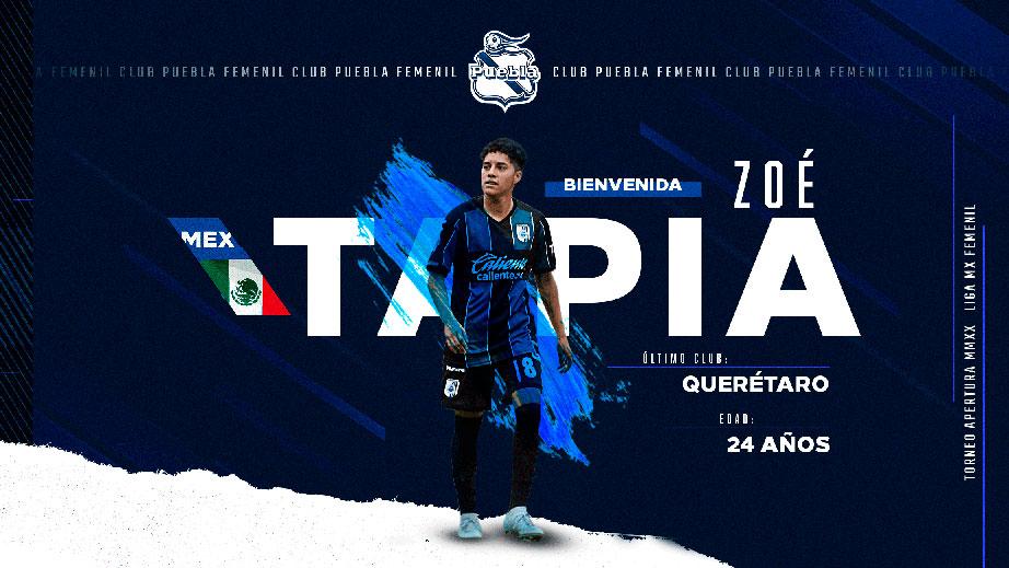 Zoe Tapia se une al Puebla Femenil