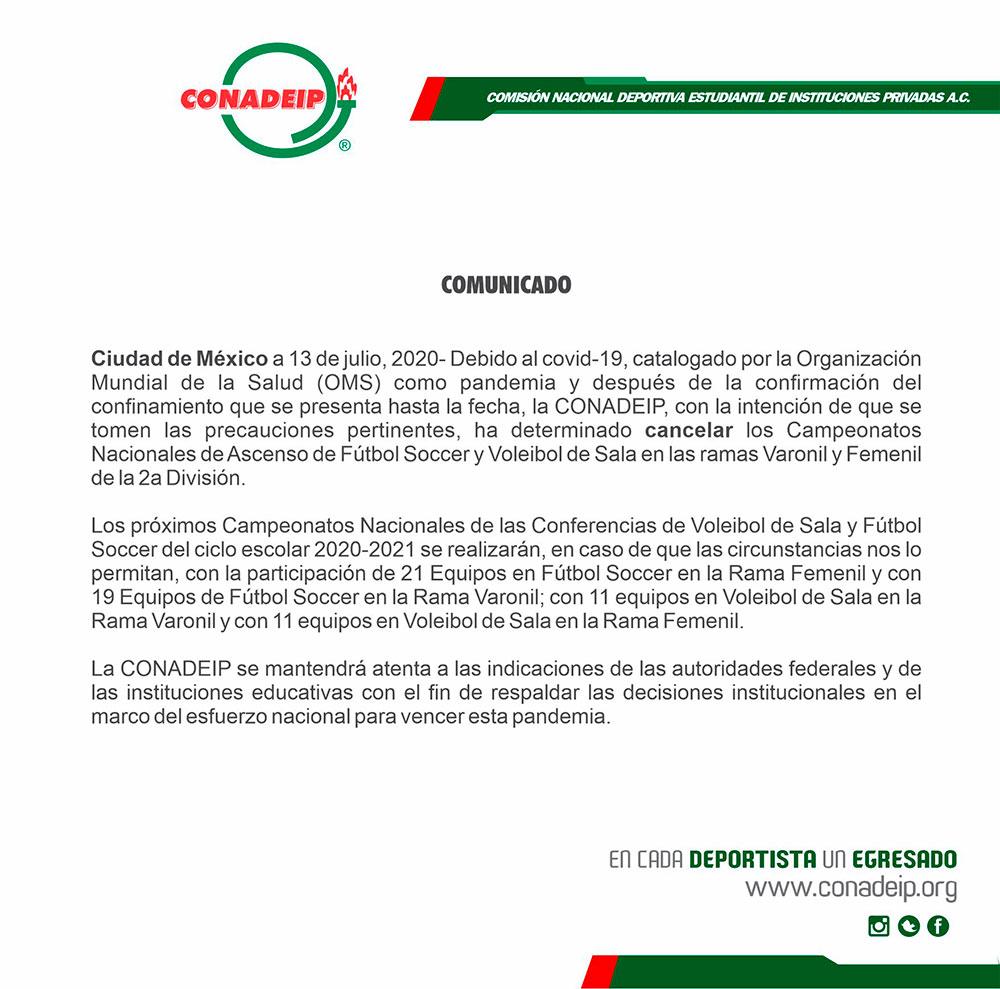 UPAEP respalda la decisión de cancelar eventos nacionales