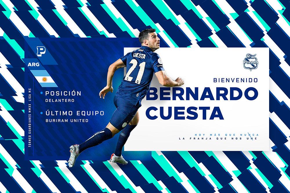 Bernardo Cuesta Último refuerzo del Puebla