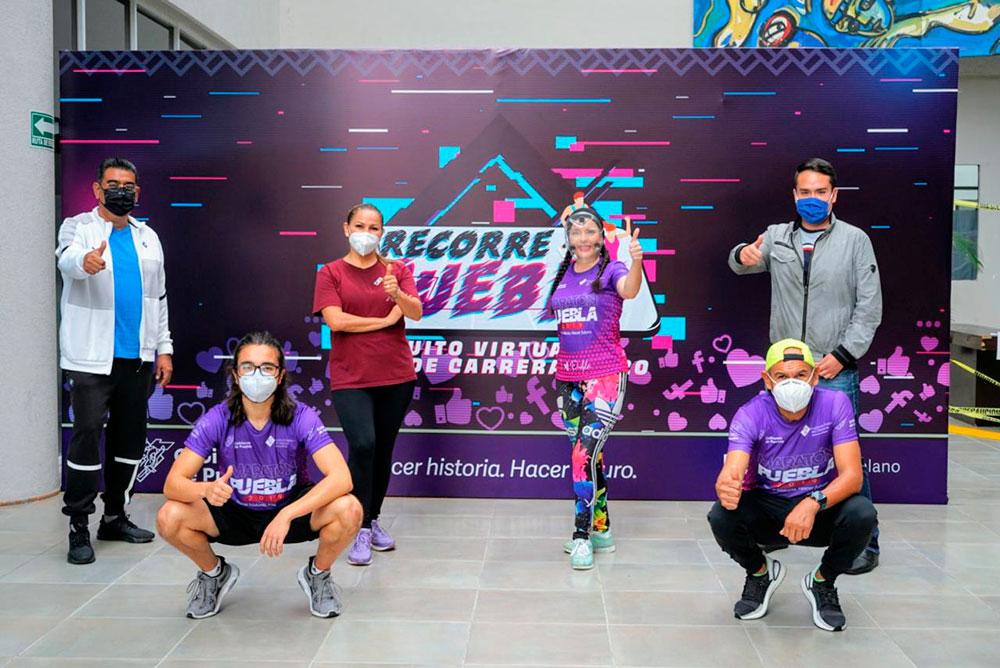 """Participaron 500 atletas en la octava carrera virtual de """"Recorre Puebla"""""""